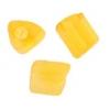 Triangular Beads 5X5mm Yellow Matte Solgel